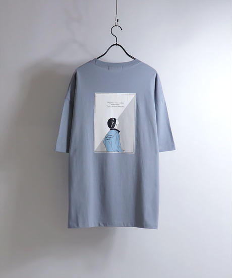 ピアスボーイプリントTシャツ /ホワイト