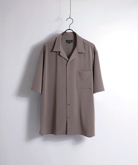 PEオープンカラーシャツ /ブルー