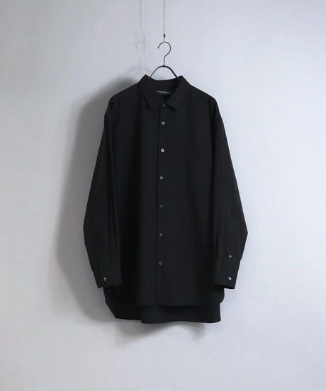 ソフトブロードビッグシルエットシャツ/ブラック