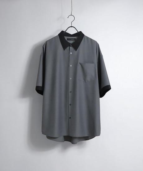 TRクレリック半袖ビッグシャツ /ベージュ