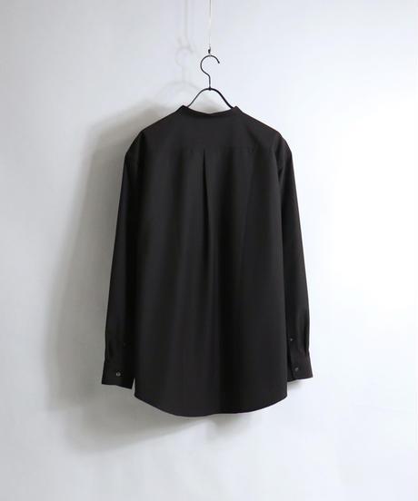 TRバンドカラーLSシャツ /ベージュ