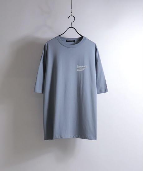 バッグガールプリントTシャツ /サックス