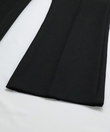 スラックスフレアパンツ /ブラック