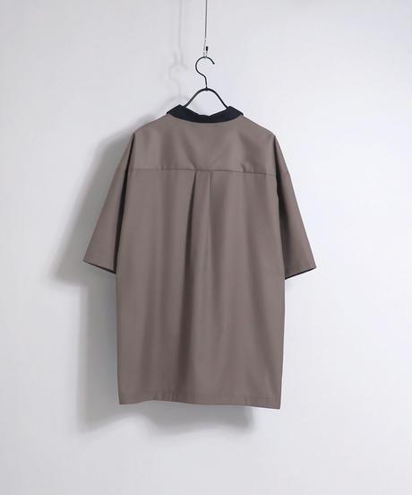 TRスキッパーポロシャツ /ブラウン