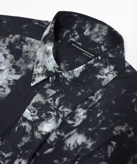 LS総柄ビッグシャツ /ホワイト