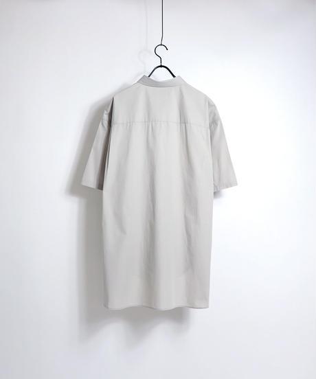 ソフトブロード半袖ビッグシャツ /ベージュ