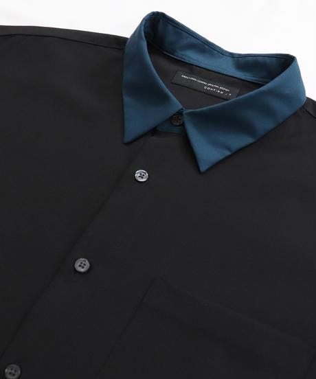 TRクレリック半袖ビッグシャツ /ブラック