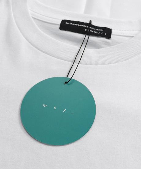 msy.×Confirm コラボプリントTシャツ /ホワイト