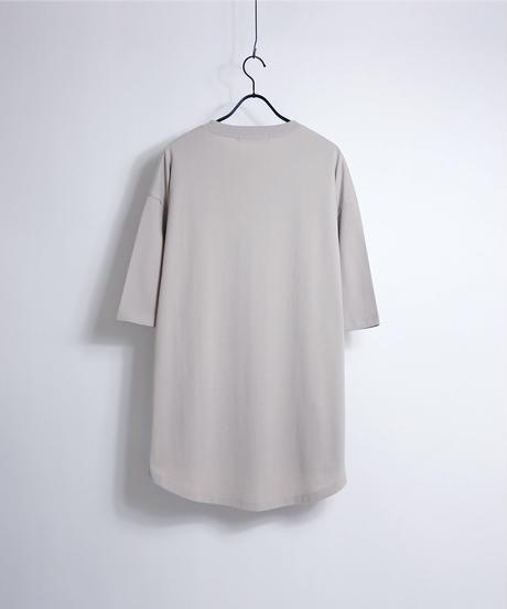 ラウンドテールビッグTシャツ /ホワイト