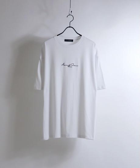 ロゴ刺繍Tシャツ /ホワイト