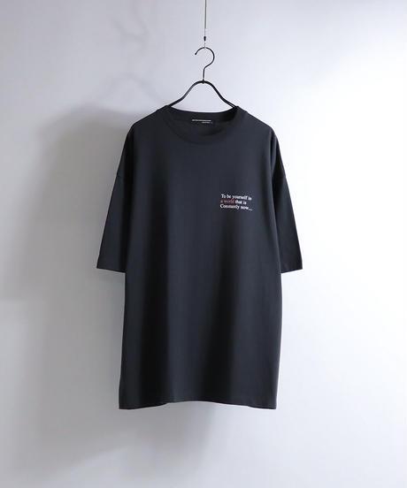 ライダースガールプリントTシャツ/ブラック
