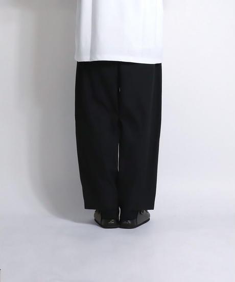ルーズワイドシルエットパンツ /ブラック