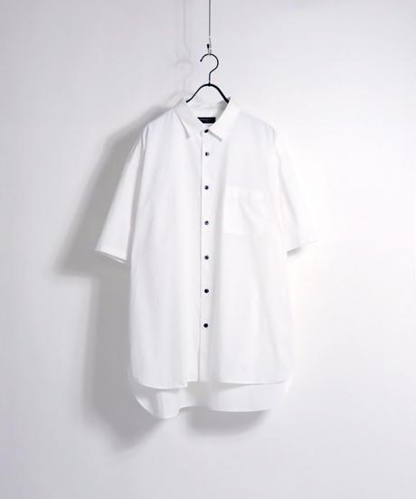 ソフトブロード半袖ビッグシャツ /グレー