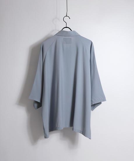 五分袖ラグランビッグシャツ /サックス