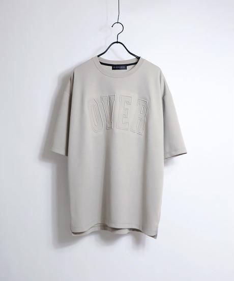 カレッジロゴ エンボスプリントTシャツ/チャコール