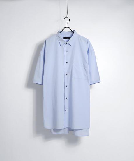 ソフトブロード半袖ビッグシャツ /ホワイト