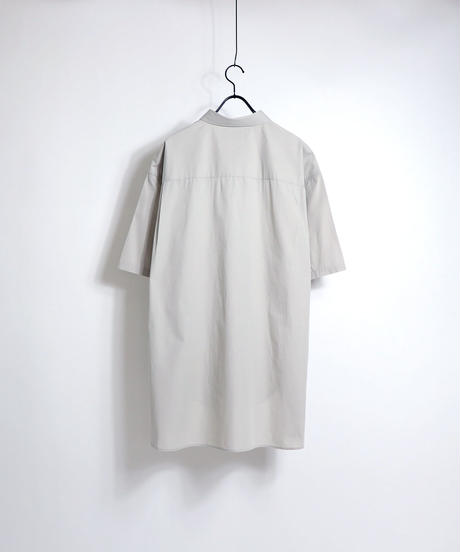 ソフトブロード半袖ビッグシャツ /ブラック
