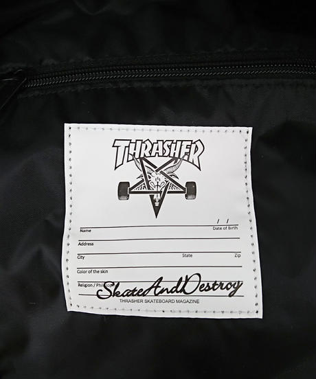 【新品】THRASHER LEOPARD BLACK BACK PACK(262)