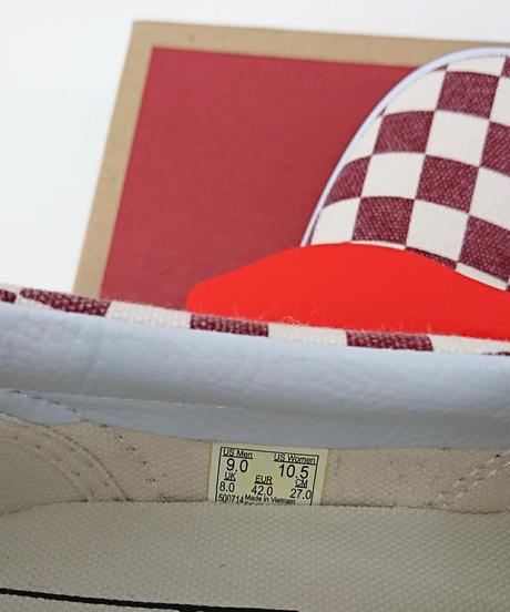 【新品】VANS クラシックスリッポン チェッカーボード RED/WHITE(60)