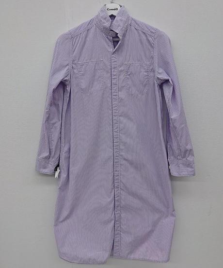 【Ladies】TOMORROWLAND MACPHEE ストライプ ロングコットンシャツ(154)