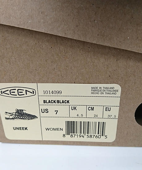 【Ladies】KEEN UNEEK BLACK/BLACK 24cm(260)