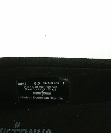 【Ladies】【新品】MINETONKA モカシン KILTY  レオパード 23.5cm ブラック