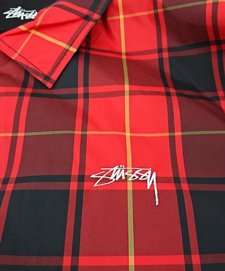 【新品】17AW STUSSY CRUIZE COACH JACKET USAモデル Red Plaid/Black(250)
