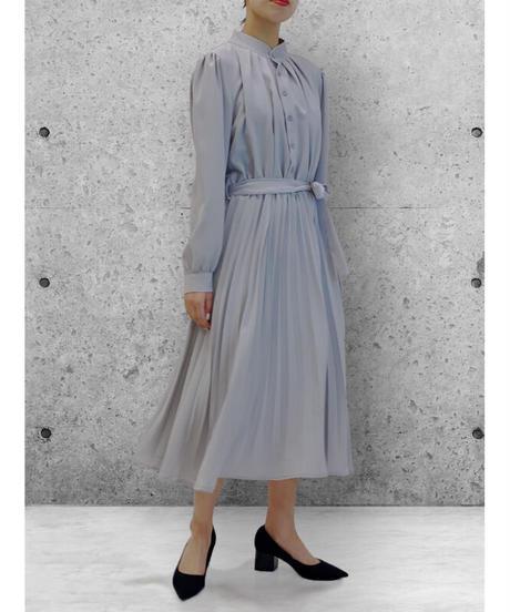 diploa | ACCORDION PLEATED DRESS | Dove Gray