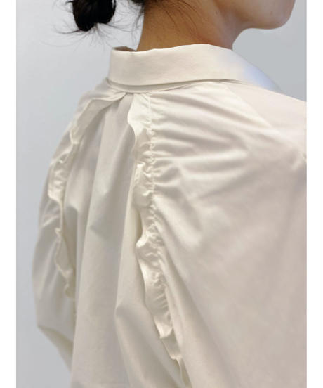 diploa | BACK FRILL SHIRT | Ivory