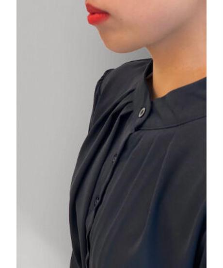 diploa | ACCORDION PLEATED DRESS | Black