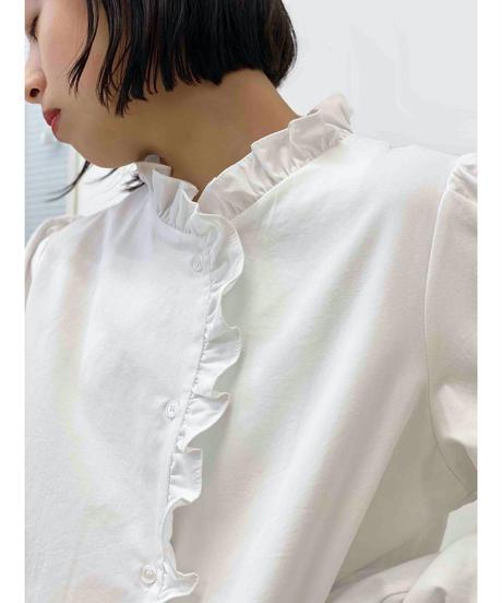 diploa   FRILL NECK BLOUSE   White