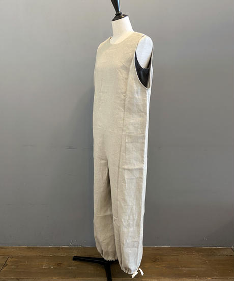 <women>Honnete(オネット) New Jumpsuit リネンジャンプスーツ / ナチュラル