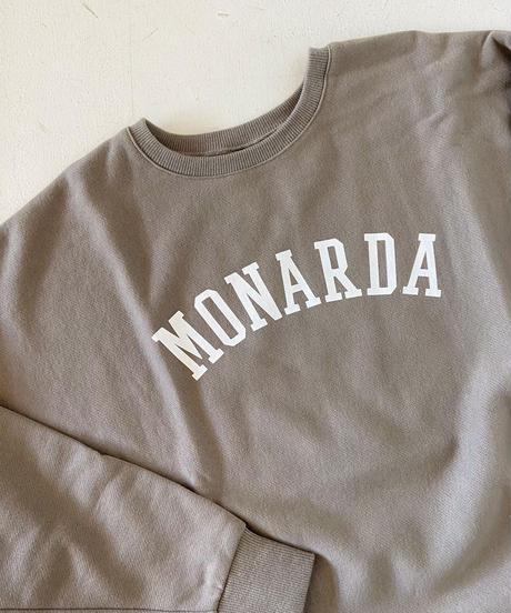 """<women> MICA&DEAL(マイカ&ディール) """"MONARDA""""ロゴワイドスウェット / GRAY KHAKI"""