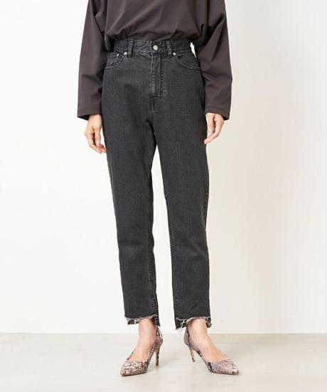 <women> MICA&DEAL(マイカ&ディール)テーパードカットオフデニムパンツ(0121303185) / ブラック(BLACK)
