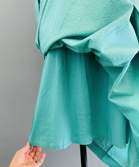 <women>ne Quittez pas(ヌキテパ)ドビーストライプ×刺繍ノースリーブワンピース(010511GP1) / グリーン