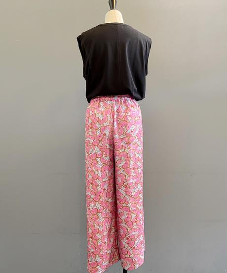 <women> FIL DE FER(フィルデフェール)フルーツ柄タックイージーパンツ / ピンク