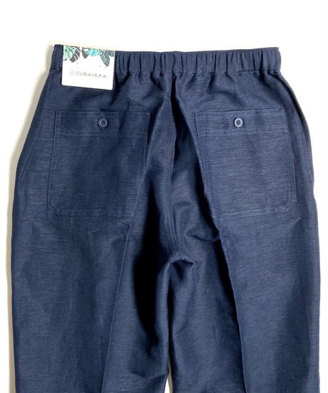 Cubavera Linen Brend Draw String Pants Navy