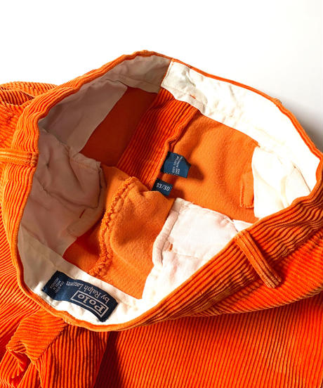 Ralph Lauren Corduroy Pants Orange