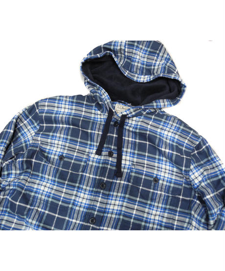 L.L.Bean Check Shirt Hoodie Fleece Liner [C-0034]