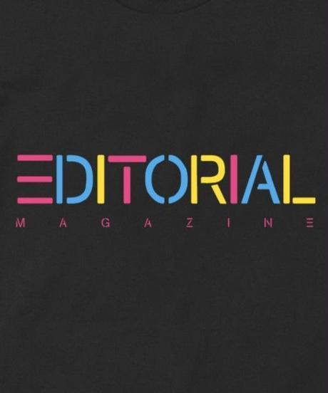 Editorial Magazine Rainbow Editorial Tee Black