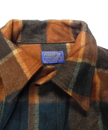 70's Pendleton Plaid Wool Jacket[C-0170]