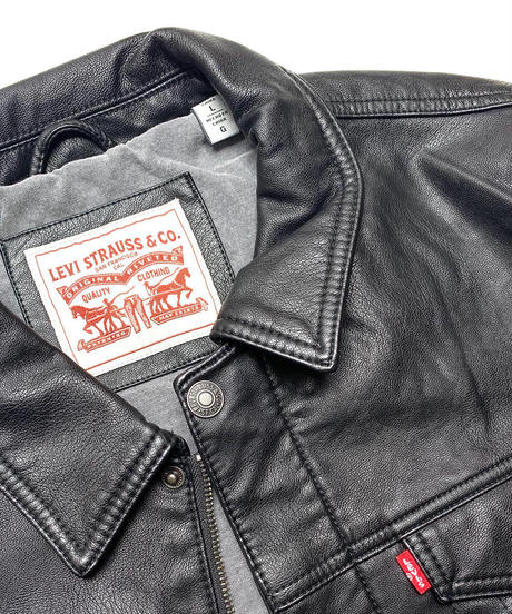 LEVI'S PU LEATHER TRUCKER JACKET