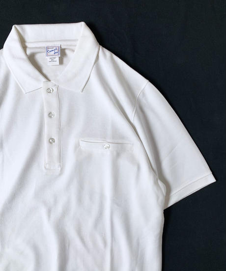 Haband Banded Bottom Shortsleeve Polo Shirt White