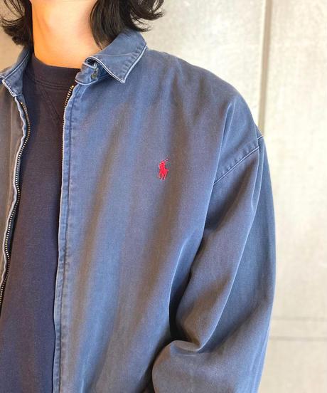 90s Polo Ralph Lauren Cotton Drizzler Jacket Navy