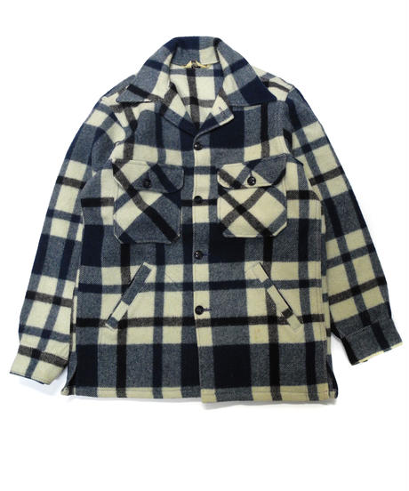 70's  Woolrich Plaid Wool Jacket  [C-0177]