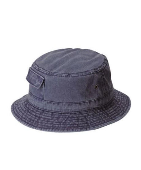 DPC Dyed Twill Bucket Hat w/ Side Pocket Navy
