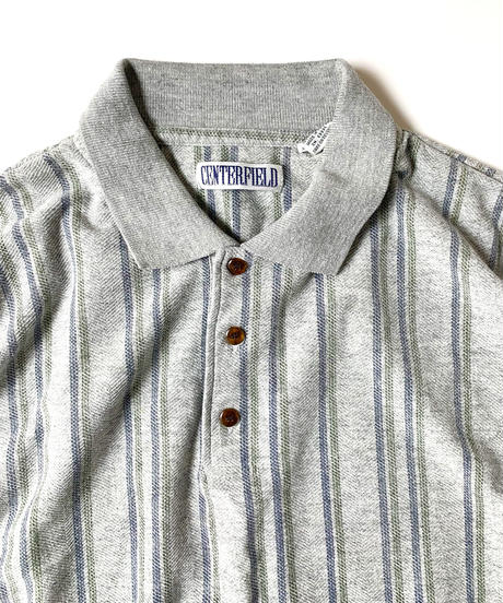 Centerfield Striped Shortsleeve Polo Shirt