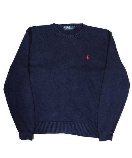 90's Polo Ralph Lauren Cotton Knit Sweater [C-0080]