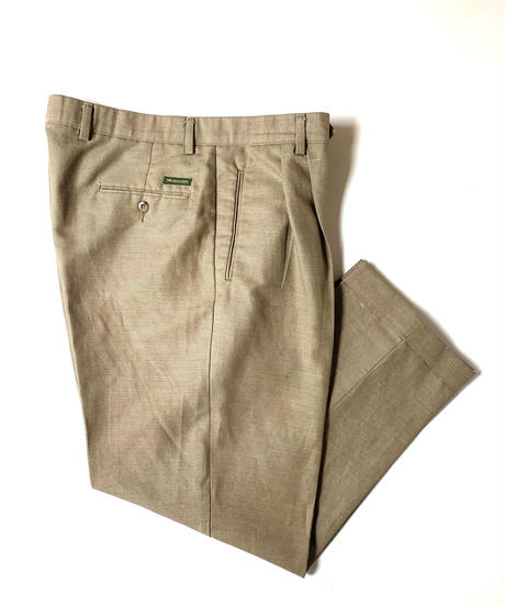 2000s Dockers Linen Front Pleat Trousers