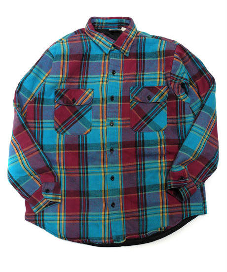 80's Five Brother Plaid Longsleeve Flannel shirt[C-234]